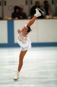 Nancy Kerrigan in Vera Wang Dress 1992 Olympics