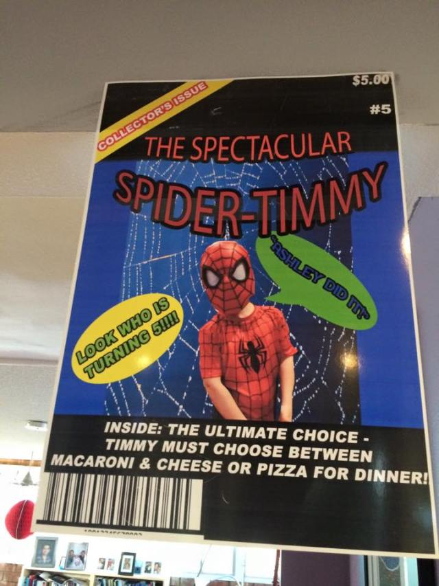 SpidermanBirthdayComic